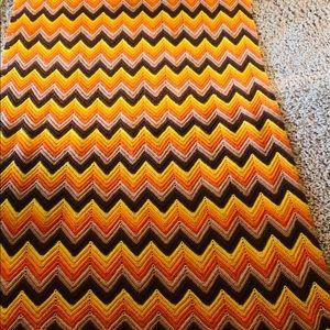 Bedding - Handmade knitted throw blanket.